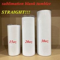 DIY sublimation straight tumbler 20oz stainless steel slim tumbler skinny tumblers vacuum insulated travel mug best gift