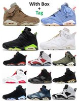 6s TS British Khaki Blue 2021 Carmine Bordeaux Basketball Shoes Men 6 Gold Hoops Black Infrared Electric Green Hare DMP UNC Washed Denim Oreo Maroon Sneakers