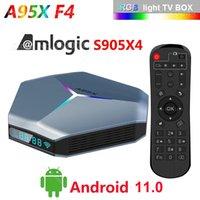 A95X F4 Amlogic S905X4 Smart Android 11TV Box 4K HD YouTube 4GB RAM 32GB ROM 2.4G 5Ghz Wifi RGB Light Set Top Box