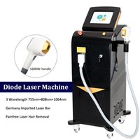 Professional diode laser hair removal machine 3 wavelength 808nm 755nm 1064nm Trio Lazer alexandrite remove hairs Soprano Equipment