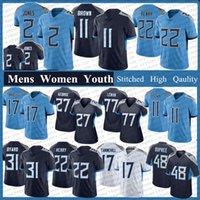 #2 Julio Jones 22 Derrick Henry 11 AJ Brown Football Jerseys Mens Women Youth 31 Kevin Byard Tennessee Ryan Tannehill Taylor Lewan Titans Jersey Bud Dupree Caleb Farley