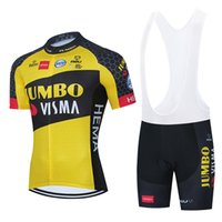2021 Team JUMBO Cycling Jersey Bike Shorts 20D Bib Set Ropa Ciclismo MenS MTB Summer Pro Bicycling Maillot Bottom Clothing