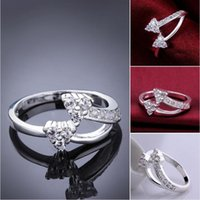 women's sterling silver plated triangle zircon ring GSSR482 fashion 925 silver plate Rings