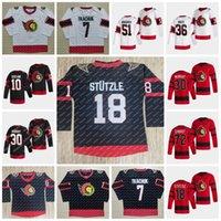 18 Tim Stutzle Ottawa Senators 2021 Reverse Retro Jersey Brady Tkachuk Derek Stepan Thomas Chabot Matt Murray Bobby Duclair Craig Anderson Bobby Ryan