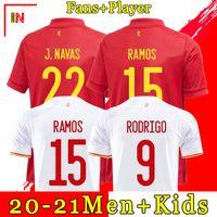 Spain Soccer Jersey RAMOS PIQUE Spain home soccer shirt 20-21 ASENSIO MORATA ISCO INIESTA Football SHIRT away uniforms Men+kids