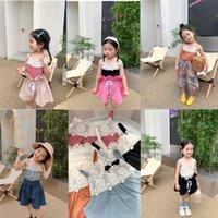 Newest Summer Girls Lace Vest T-shirts Kids Children Sleeveless Top Clothes