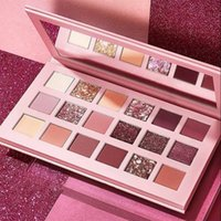 Pearlescent 18 color eyeshadow palettes desert rose eye shadow disc marble makeup plate