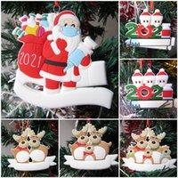 Party Decoration Santa Claus Elk Snowman Family Christmas Tree Ornament Gift for Mom Dad Kid Grandma 2021 Xmas Doorplate Pendant 71008A