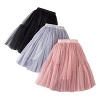 Discount skirts for boys Skirts for girls cotton lace kids tutu skirt solid children's skirt ball gown spring autumn clothes pink gray black tutu party 210319