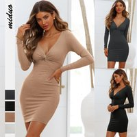 2021 new Women Sexy Bandage Dress Sleeveless Evening Party Dress Solid Color Halter Design Women Pencil dress hot for you