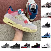 top quality 4 4s Mens Basketball Shoes starfish metallic purple red black cat bred pine green cactus jack men sneakers trainers Size 40-46