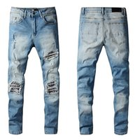Designers Summer Mens Jeans Vlss Casual Brand Design Slim-leg Pants Fashion Able Motorcycle Trousers Pant s Size 29-40