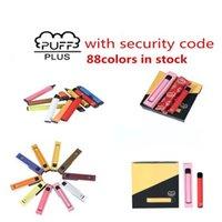 Disposable E-cigarettes puffbar PUFF BAR PLUS 800+ Pod Cartridge 550mAh Multiple 80 colors Battery 3.2mL Pre-Filled Vape Pods Stick Portable Vaporizer VS BANG XXL