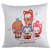 HOT 100pcs lot Squre Shape Sublimation White Pillow Case Decorative Printable Heat Press Cushion Cover 578 V2