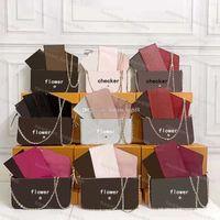 Classic POCHETTE FÉLICIE Stunning Women Bag M61276 Handbags Womens Crossbody Checker Plaid Handbag Tote Luxurys Designers Brown Flower Flap Purse Bags With Box