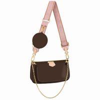 M44813 Hot Sales 3 Piece Set MULTI POCHETTE ACCESSORIES Bags Women Crossbody Bag Genuine Leather Handbags Purses Lady Tote Bag Coin Purse Three Item