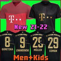 BaYern soccer jersey 21 22 LEWANDOWSKI SANE GORETZKA muNich COMAN MULLER DAVIES football shirt Men Kids kit 2021 2022 HUMANRACE fourth 4th