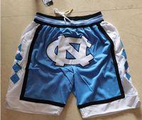 Baseball Team Just Don Carolina Color Short Sweatpants Sport Shorts Hip Pop Pant With Pocket Zipper Sweatpants ny Navy Blue Men's ncaa Blue Color LA Size 2XL Pants