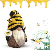 honeys bees 2021 - 1-2pcs 2021 Faceless Doll Bumble Bee Striped Gnome Scandinavian Tomte Nisse Swedish Honey Elfs Home Old Man Gifts Toys Party Favor