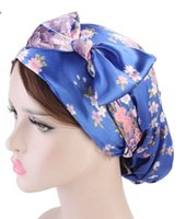 Soft Silk Hair Bonnet With Wide Band Comfortable Night Sleep Hat HairLoss Salon Color Highlighting Hairstyling Tool