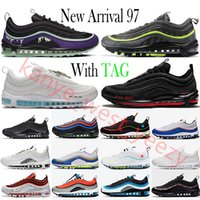 2022 Top Quality 97 Cushion Mens Running Shoes Mschf Lil Nas x Satan Luke Inri Jesus Black Bullet Reflective 97s Triple White Sean Wotherspoon Sports Sneakers