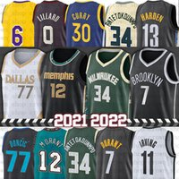 Ja 12 Morant Basketball Jerseys 77 Luka 34 Giannis Jersey Men Doncic Antetokounmpo City Kevin 7 Durant Kyrie 11 Irving Stephen 30 Curry