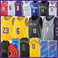 Los 23 6 Angeles 13 Harden 7 Kevin Kyrie 11 Durant Basketball Jersey Russell 0 Westbrook Irving Space Jam 2 8 Anthony 3 Davis Kyle Alex Kuzma Caruso 72 Biggie Men Youth Kid