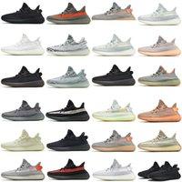 Top Quality Zebra Yeezel Reflective Running Shoes Yecheil Cloud White Belgua Earth Static Cinder Man Women Sneakers 36-48