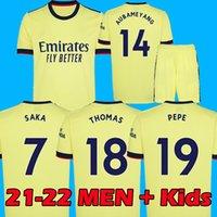 21 22 Arsen soccer jersey gunners ODEGAARD THOMAS PEPE SAKA TIERNEY HENRY WILLIAN SMITH ROWE 2021 2022 football shirt Kid sets uniform