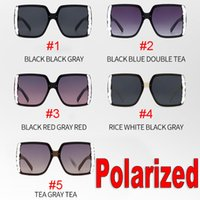 dark sunglasses womens 2021 - Square Dark Lense Polarized Sunglasses for Women Standard Eyewear Womens Mens Big Frame Sun Glasses Shades Goggles Cycling Eyeglasses