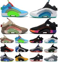 Michael 35s Jumpman Basketball shoes 35 for sale tennis Youth sports sneakers Black White red grey Pink