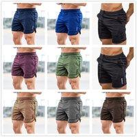 2021 Men Running Shorts Sports Gym Compression Phone Pocket Wear Under Base Layer Short Pants Athletic Solid Tights