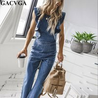 Butterfly Bell Wide Leg Bodycon Denim Jumpsuit Casual Rompers Back Lace Up Fashion Trends Jumpsuits Overalls
