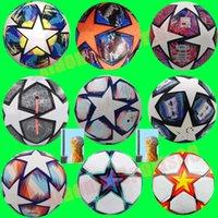 Top quality New 21 22 European champion size 5 Soccer ball 2021 2022 Final KYIV PU balls granules slip-resistant football
