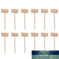15Pcs Practical Wooden Cake Hammers Mini Round Food Crab Seafood Mallets