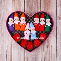 50 PCS Christmas New Year Decoration Gift Baby Elf Doll Toy Baby Elves Dolls Childrens Toys Baby Mini Doll Red Green Pink etc