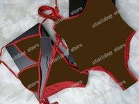 21ss Italian Swimwear bikini Spring Summer fashion Graffiti letters printing Womens tops high quality one piece black red white
