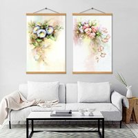 Discount colorful rose painting Nordic Colorful Rose Flower Canvas Painting Vintage Home Decoration Posters And Prints Classical Mural Pictures For The Bedroom Paintings