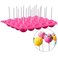 Discount stick lollipop mold Chocolate Ball Cake Biscuit Candy Maker DIY Baking Tool Silicone Lollipop Mold Stick Tray Cake Mold