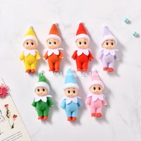 100 PCS Great Quality Baby Elf Doll with feet shoes Christmas Baby Elf Dolls with Movable arms and legs Baby Toys Kids Elves