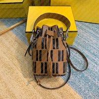 Luxurys Designers Leather Shoulder Crosbody Bags with Date code calfskin classic brown black Fletters embossed top quality women mini drawstring bucket bag