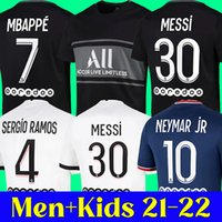 21 22 maillots de foot MESSI MBAPPE SERGIO RAMOS psg soccer jersey ICARDI top thailand 2021 2022 football shirt HAKIMI WIJNALDUM Camiseta futbol men kids 123