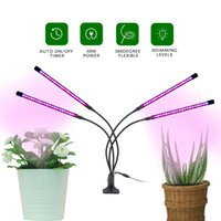 5V USB 4 head Full Spectrum LED Grow Lights 110*80*620mm Tube 5W 10W 15W 20W Customizable with 9 Dimming Leves and 360 Degree Flexible for Indoor Vegetable Plant Seeding
