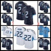 "Tennessee""Titans""22 Derrick Henry 2 Julio Jones Jersey Football 11 AJ Brown 17 Ryan Tannehill 77 Taylor Lewan 98 Jeffery Simmons 3 Caleb Farley 80 Chester Rogers"