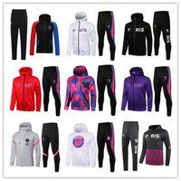 21 22 paris hoodie tracksuit Survetement 2021 chandal futbol MBAPPE football jacket 20 21 soccer set