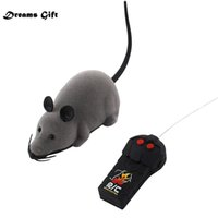 Discount electronics drop shipped Hot RC Funny Wireless Electronic Remote Control Mouse Rat Pet Toy for Kids Gifts toy Remote Control Toys Mouse Drop Shipping 210322