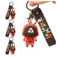 New! Cross-border squid game Favor doll key ring pendant hot spot masked games cute fidget toys cool keychain DHL BO25