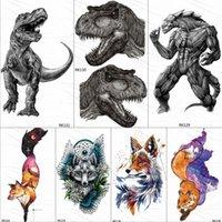 Dinosaur Monster Temporary Tattoos Sticker Roar Tyrannosaurus Rex Custom Tattoo Body Art Arm Wrist Fake Tatoos Men