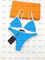 Blue Hipster Bikinis Top Quality Padded Women's Luxury Swimsuits Charming Bandage Designer Bathing Wear