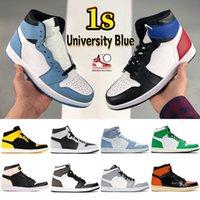 University Blue 1 1s basketball shoes Top 3 shadow 2.0 hyper royal dark mocha lucky green black white UNC men women sneakers
